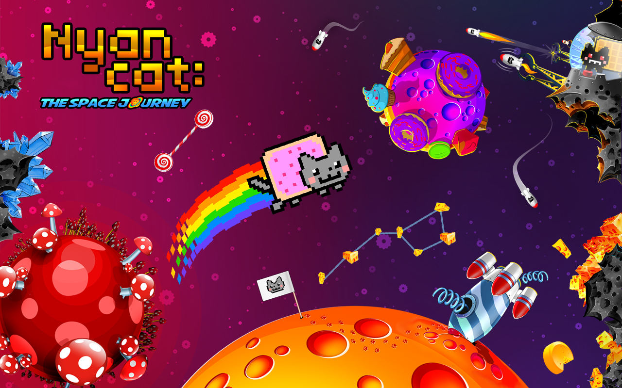 The world's number one rainbow-riding catronaut is back to go where no cat has gone before! The countdown has already begun - so jump into the cockpit and prepare for an incredibly cute adventure! A whole galaxy of cake, cheese and candy is out there, waiting only for you to explore!